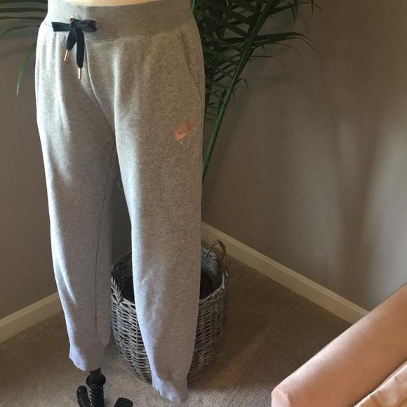 Nike Air Grey Rose Gold Sweatpants